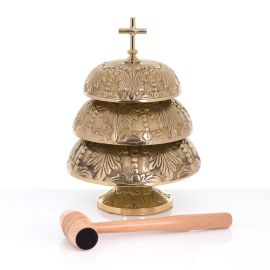 Gong mosiężny 25 cm / 23 cm / 18,5 cm