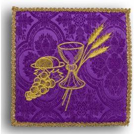 Palka haftowana fioletowa - kielich+ winogrona
