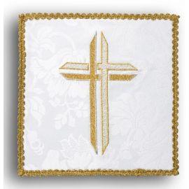 Palka haftowana ecru - Krzyż (1)