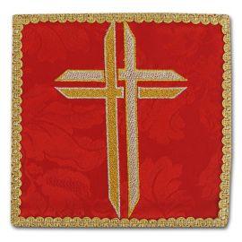Palka haftowana czerwona - Krzyż (1)