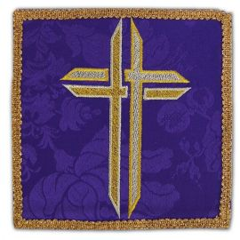 Palka haftowana fioletowa - Krzyż (1)
