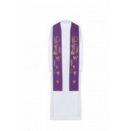 Stuła haftowana - kolory liturgiczne (27)