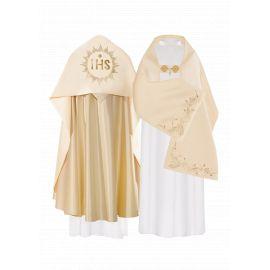 Welon liturgiczny satynowy - złoty IHS (35)