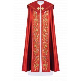 Kapa liturgiczna haftowana IHS - czerwona (33)