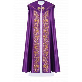 Kapa liturgiczna haftowana IHS - fioletowa (33)