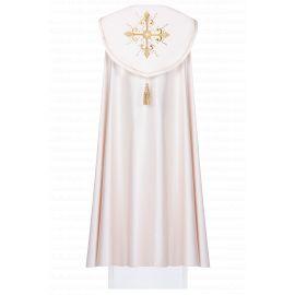 Kapa liturgiczna haftowana Krzyż - ecru (41)