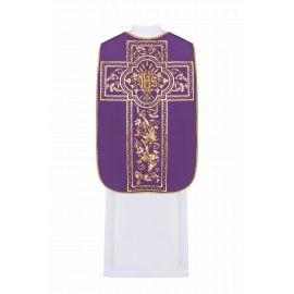 Ornat rzymski haftowany IHS - kolory liturgiczne (40)