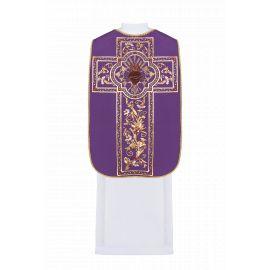 Ornat rzymski haftowany Serce - kolory liturgiczne (41)