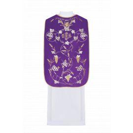 Ornat rzymski haftowany Kłosy - kolory liturgiczne (43)