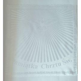 Szatka do chrztu biała- Duch Święty - kwadrat
