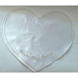 Szatka do chrztu biała- Anioł - serce