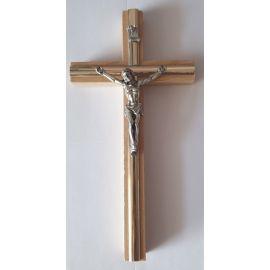 Krzyż drewniany na ścianę - 10 cm x 20 cm, jasny brąz (2)