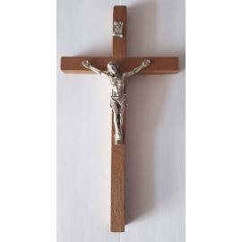 Krzyż drewniany na ścianę - 8,5 cm x 16 cm, ciemny brąz (3)