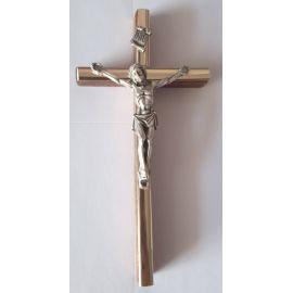 Krzyż drewniany na ścianę - 6,5 cm x 13,5 cm, ciemny brąz (4)