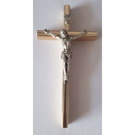 Krzyż drewniany na ścianę - 6,5 cm x 13 cm, jasny brąz (6)