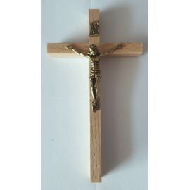 Krzyż drewniany na ścianę - 7 cm x 12,5 cm, jasny brąz (9)