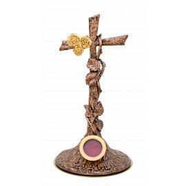 Relikwiarz Św. Rity - miedziany, patynowany - 30 cm