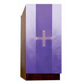 Lektorium/welon haftowany na ambonkę krzyż - (82)