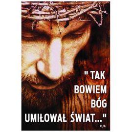 Plakat religijny - Tak bowiem Bóg (10)