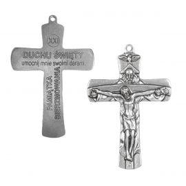 Krzyż Pamiątka Bierzmowania Trójca Święta - 9 cm