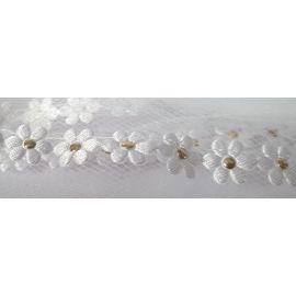 Welona na monstrancje 90 cm - drobne białe kwiatki