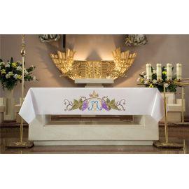 Obrus ołtarzowy - haftowany symbol Maryjny + Winogrona