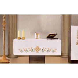 Obrus ołtarzowy - haftowany symbol Eucharystyczny