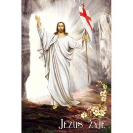 Plakat religijny – Jezus żyje (35)