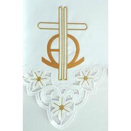 Obrus ołtarzowy haftowany - wzór eucharystyczny (108)