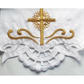 Obrus ołtarzowy haftowany - wzór eucharystyczny (116)