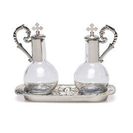 Ampułki mszalne szklane + tacka (8)