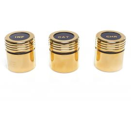 Pojemnik na oleje CHR, INF lub CAT, złocony (4)