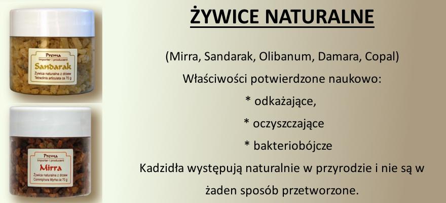 żywice naturalne